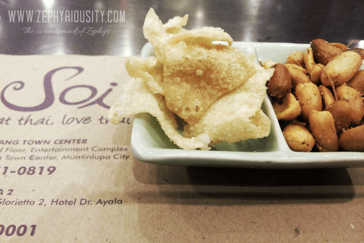 Spicy Peanuts and Chips at Soi