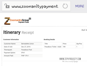 zoomanity payment