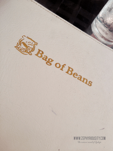 bag of beans menu