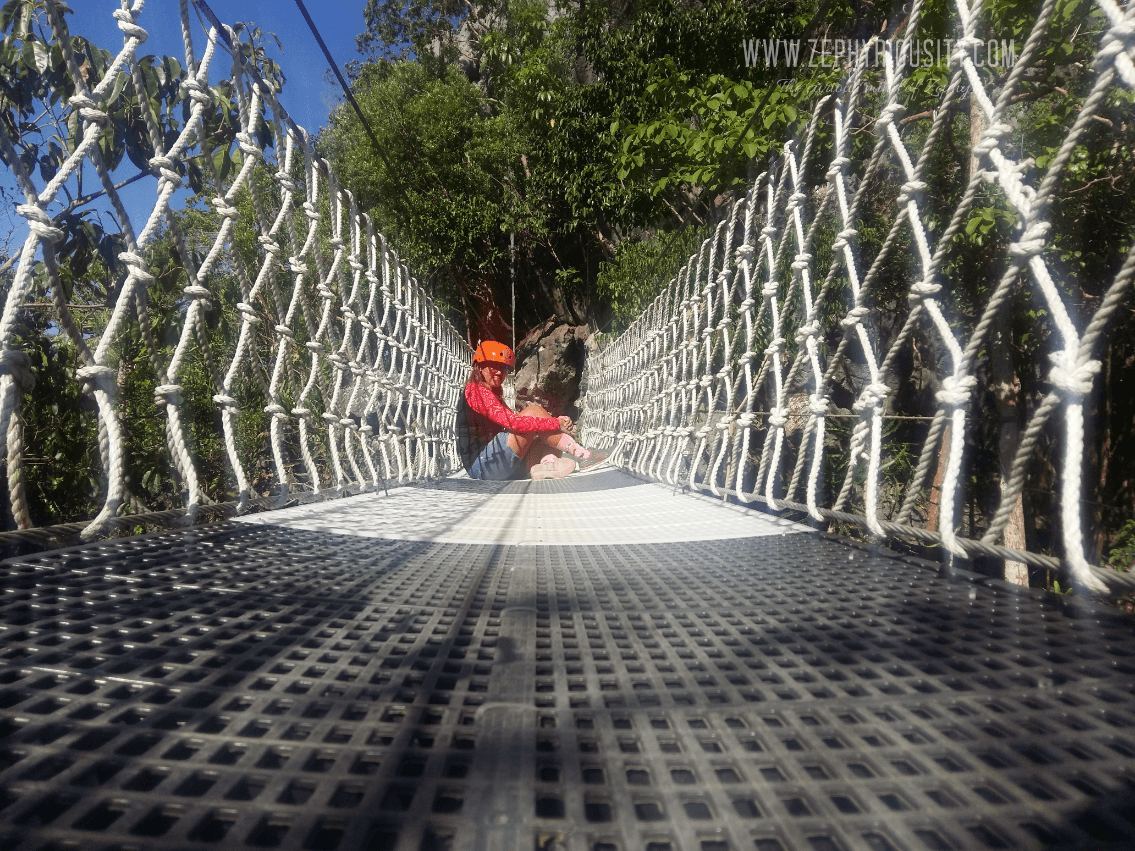enjoying hanging bridge tanay