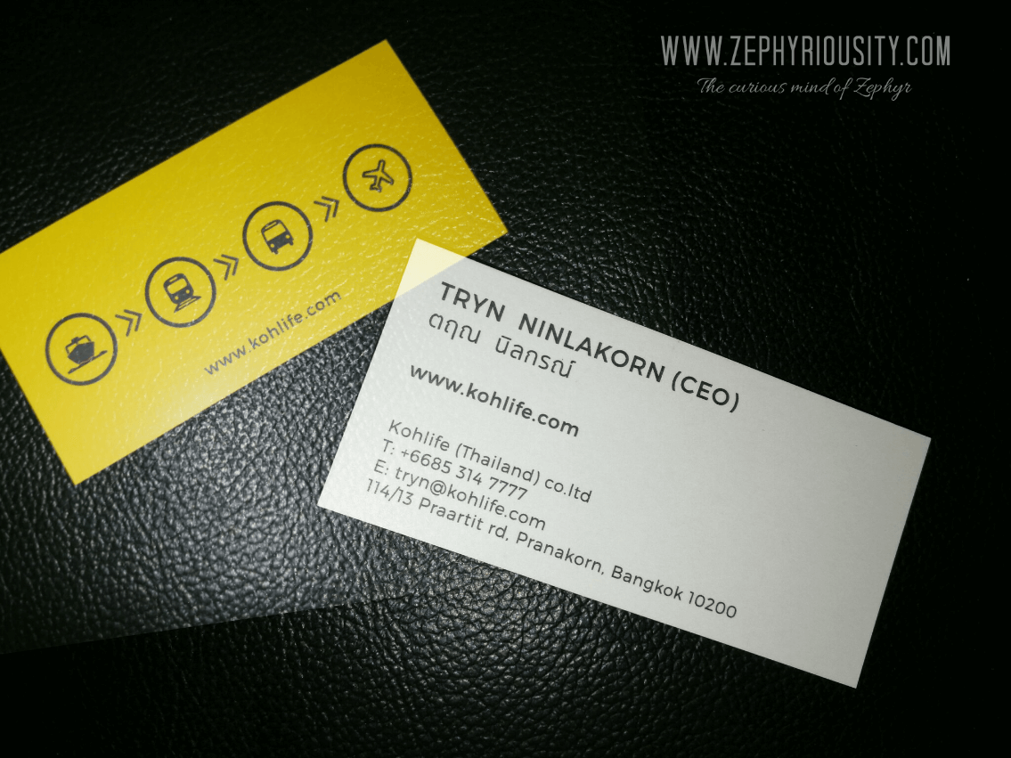 koh life business card