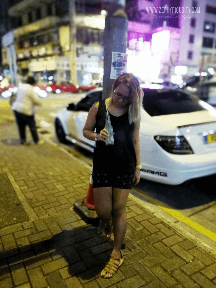 drinking on hong kong streets