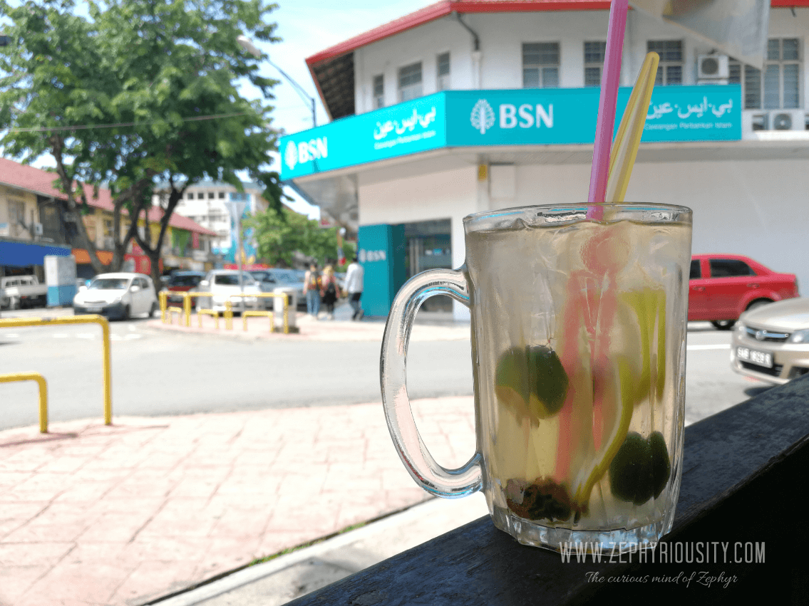 Lime with sour plum drink kota kinabalu