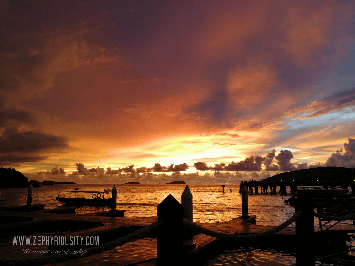 sunset at jesselton point kota kinabalu